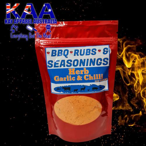 BBQ Rubs Herb, Garlic & Chilli Glaze 200 Grams