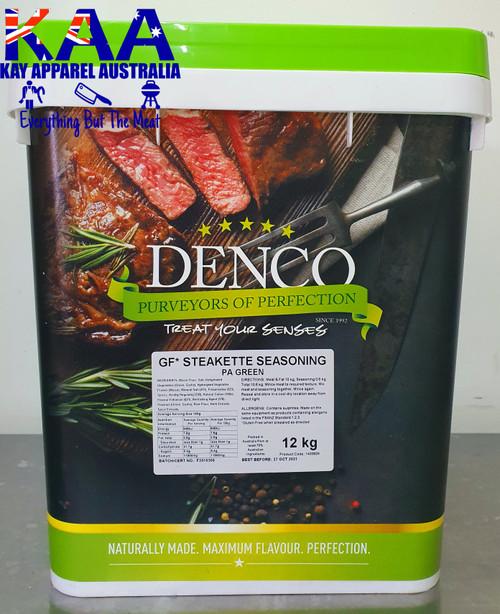 Denco Steakette Seasoning [Pa] Green Burger Mix 12Kg