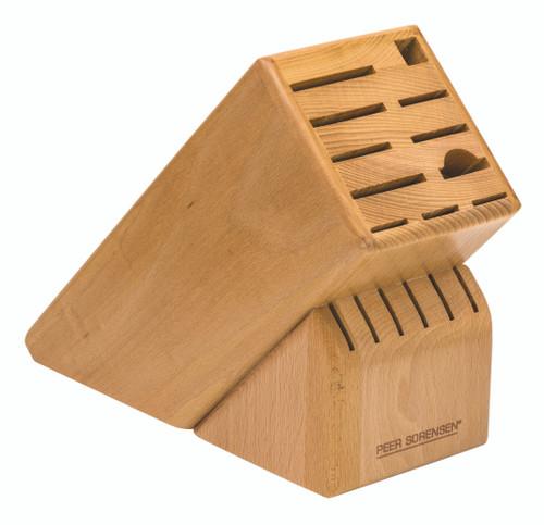 Peer Sorensen Beech Wood 17 Slot Knife Block Empty