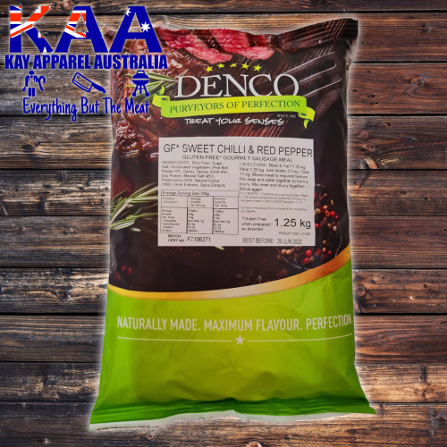 Denco Sweet Chilli & Red Pepper Gourmet Sausage Meal Premix Seasoning 1.25kg Gluten Free