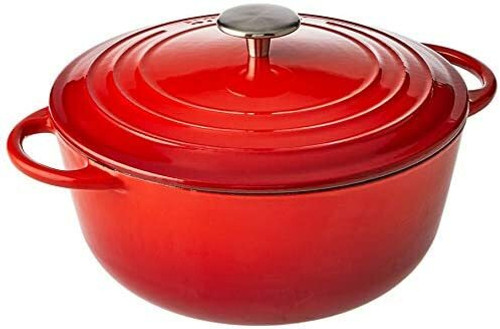 Pyrolux Pyrochef Cast Iron Casserole Dish 28cm - 6 Litre Red