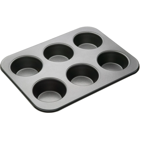 BAKEMASTER 6 Cup Large Muffin Pan 35X26CM