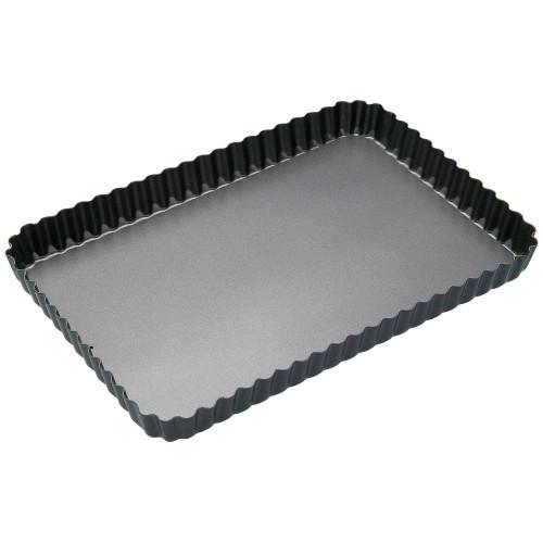 BAKEMASTER Non Stick Loose Base Rectangle Quiche Pan 31X21X3.5CM