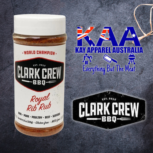 BBQ Rubs, Clark Crew Royal Rib BBQ Rub 329 Grams