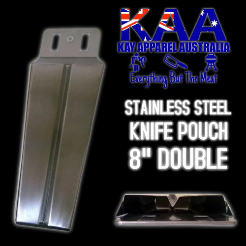 Butchers Metal Knife Pouch Scabbard Stainless Steel