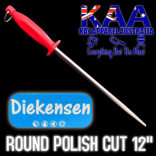 Diekensen Steel for Butchers, Round Polished Stainless Steel 12 Inch