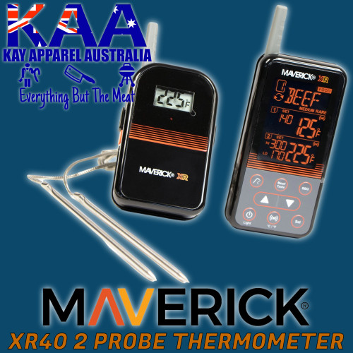 Maverick XR-40 Extended Range Duel Probe Wireless BBQ Meat Thermometer