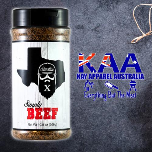 BBQ Rubs, Smokin X Simply Beef BBQ Rub 306 Grams