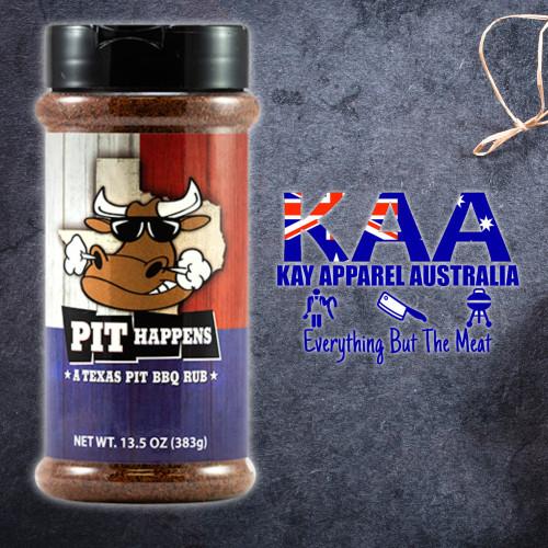 BBQ Rubs, Pit Happens Texas Pit BBQ Rub 383 Grams