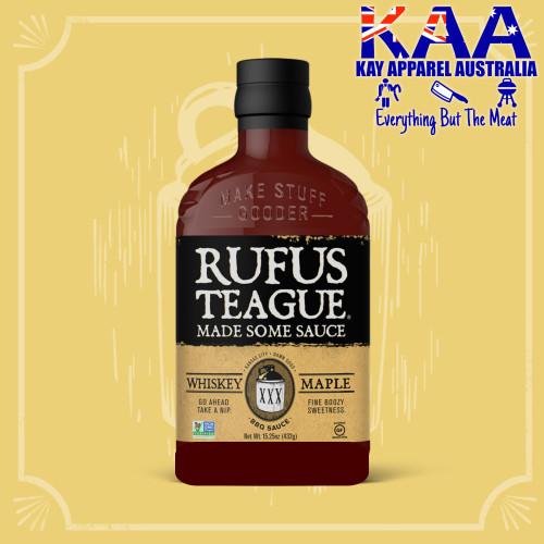 Rufus Teague Whisky Maple BBQ Sauce, Fine Boozy Sweetness 432g