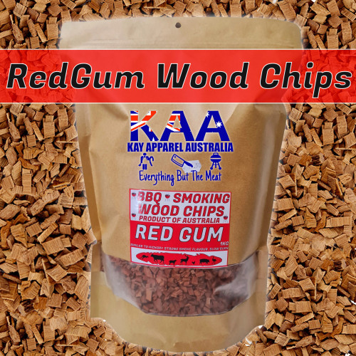 BBQ SMOKING WOOD - SMOKING CHIPS AUSTRALIAN Red Gum 1kg