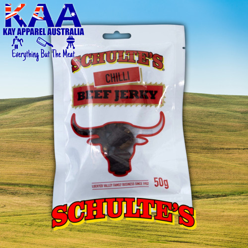 Schultes Meat Tavern Chilli Beef Jerky 50 Grams