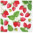 Paw Paper Lunch Napkin 33cm Pack of 20, 3 Ply, Fresh Strawberry