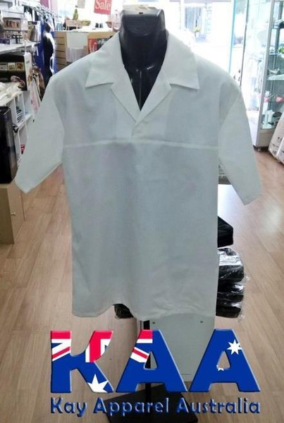 Butchers & Meat workers Coat White, With Collar