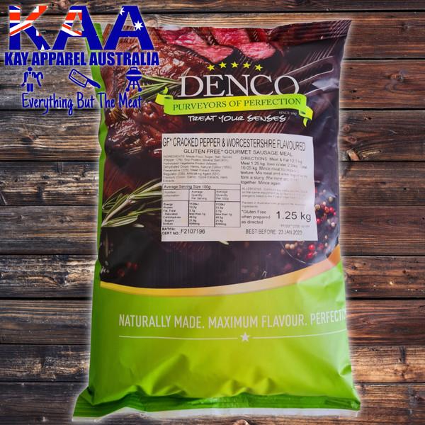 Denco Cracked Pepper & Worcestershire Gourmet Sausage Meal, Premix, Seasoning 1.25kg Bag