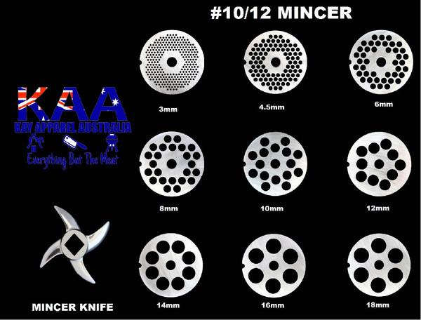 #12/10 Mincer Holeplate Or Mincer Knife