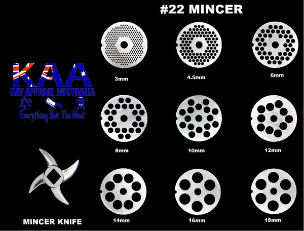 #22 Mincer Holeplate Or Mincer Knife