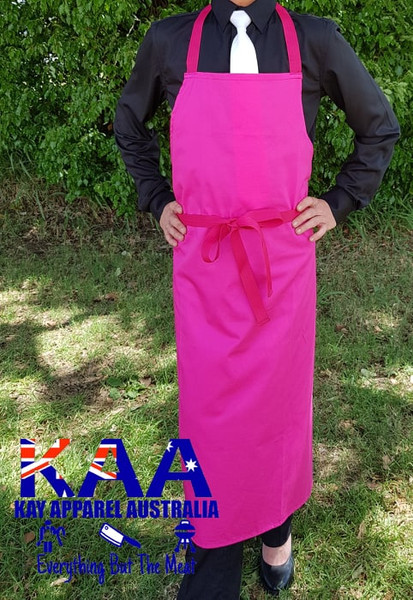 Pink Butchers Bib Apron