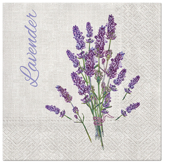 Paw Paper Lunch Napkin 33cm Pack of 20, 3 Ply, Lavender For You