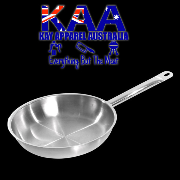 KH Stainless Steel Commercial Frypan 24cm
