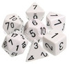 Opaque Polyhedral Dice Set White-Black
