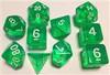 Translucent Green 10pc Dice Set