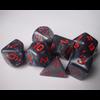 Velvet Black/Red Polyhedral 7-Die Set