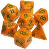 Speckled Polyhedral Dice Set Lotus