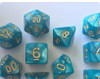 Marbled Teal 10pc Dice Set