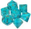 Polyhedral Dice Set Borealis Teal-Gold