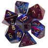 Gemini Polyhedral Dice Set Blue Purple-Gold