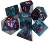 Gemini Polyhedral Dice Set Purple Teal-Gold