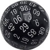D100 Black with Numbers