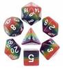 Rainbow Semi Translucent 10pc Dice Set