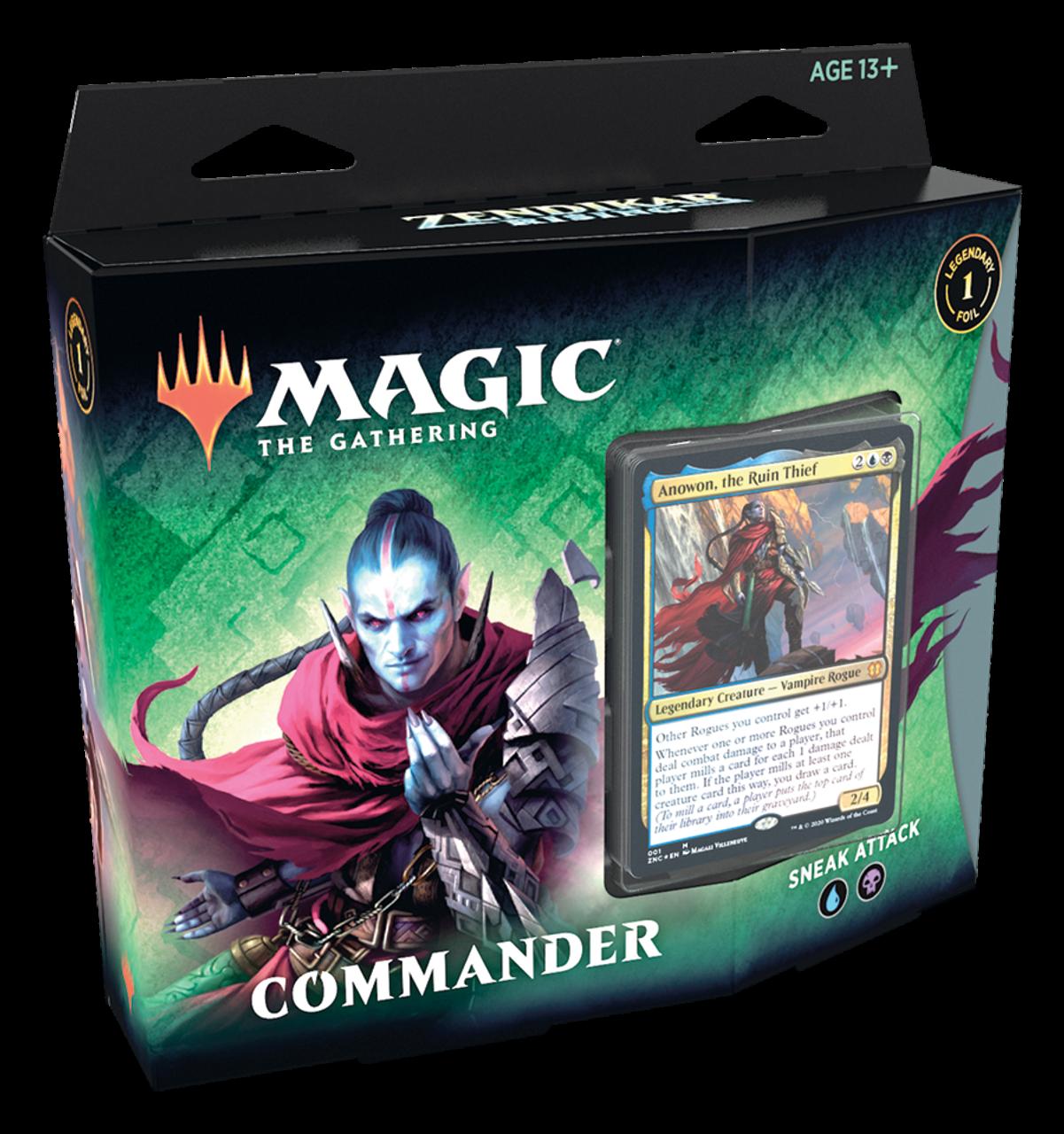 Commander Bundle Zendikar Rising Deck Set of 2 4 packs! 100 sleeves Play Mat