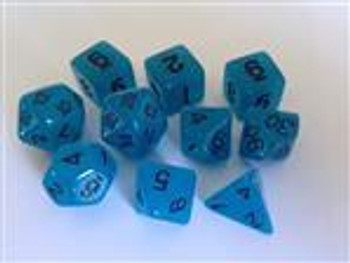 Glow in the Dark Blue 10pc Dice Set
