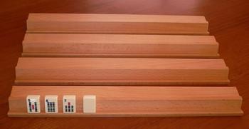 Set of 4 Hardwood Mahjong Racks 432 x 58mm
