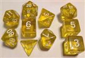 Translucent Gold 10pc Dice Set