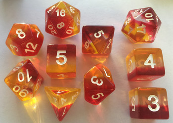 Sunrise 7pc Dice Set