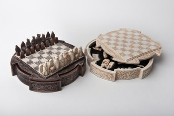 Isle of Lewis Compact Celtic Chess set