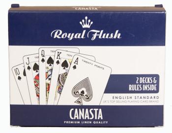 Royal Flush Canasta Cards