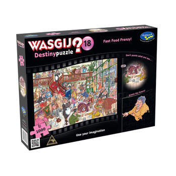 Wasgij? #18 Destiny Puzzle 1000pc - Fast Food Frenzy