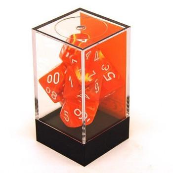 Vortex Polyhedral Solar / White 7 Dice Set