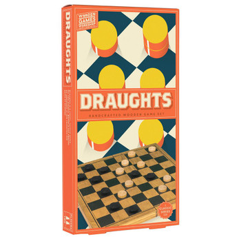 Draughts: mini wood game