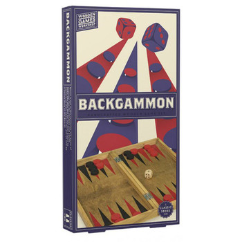 Backgammon: mini wood game