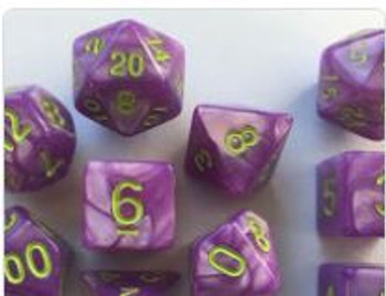 Marbled Purple 10pc Dice Set
