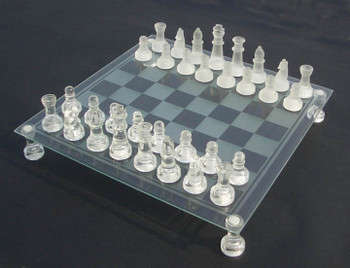 38mm Glass Chess Set