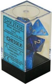 Dice Vortex Polyhedral Blue/Gold