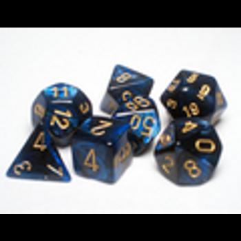 Scarab Royal Blue/Gold Polyhedral 7-Die Set