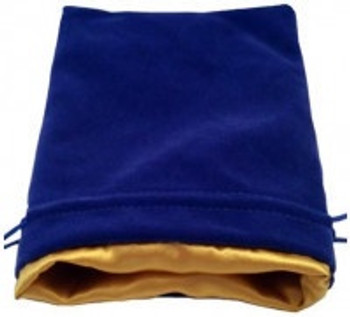 "MDG 4""x6"" Velvet Dice Bags with Gold Satin Lining"